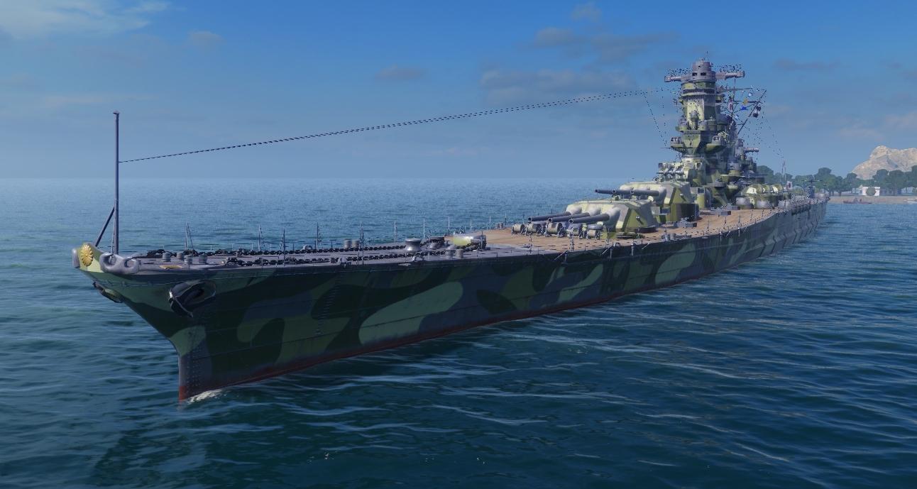 Японский линкор 10 уровня Yamato. Легенда стоящая у забора.