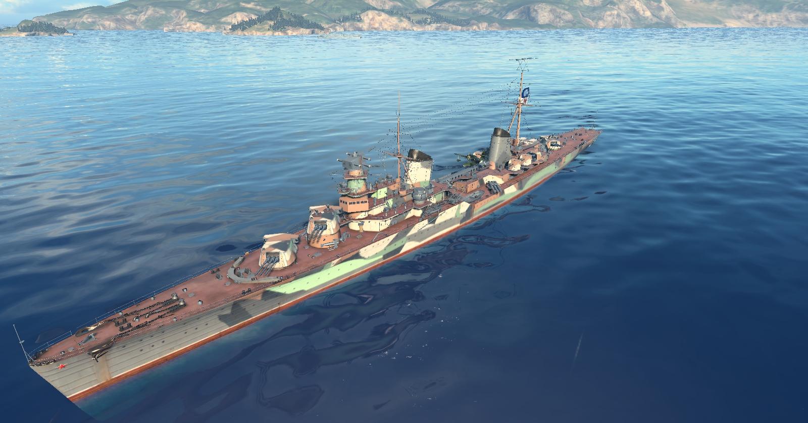 Советский крейсер 6 уровня Молотов. Стальная кувалда Советского флота.